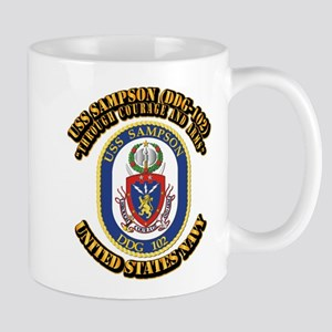 USS Sampson (DDG-102) with Text Mug